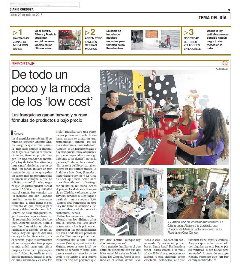 La Gitana Loca en el Diario de Córdoba