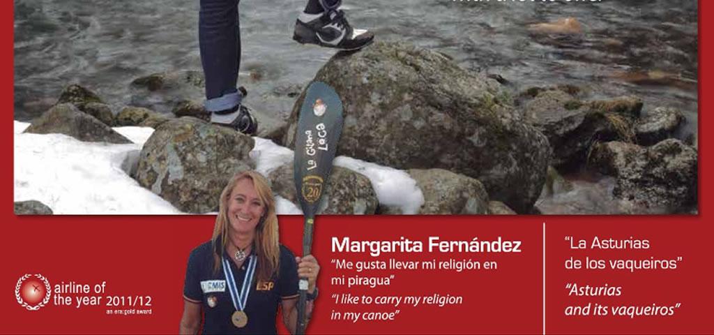 Margarita Fernández en la revista de Iberia y Airnostrum